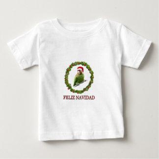 Camiseta Para Bebê Papai noel do papagaio