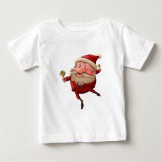Camiseta Para Bebê Papai Noel e a dança do sino