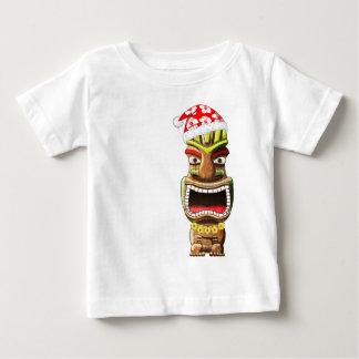 Camiseta Para Bebê Papai noel havaiano Tiki do Natal