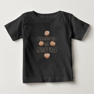 Camiseta Para Bebê Papéis do género dos rolos de canela não