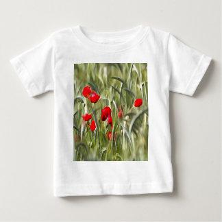 Camiseta Para Bebê Papoilas de milho