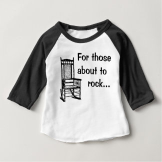 Camiseta Para Bebê Para aqueles aproximadamente à rocha…