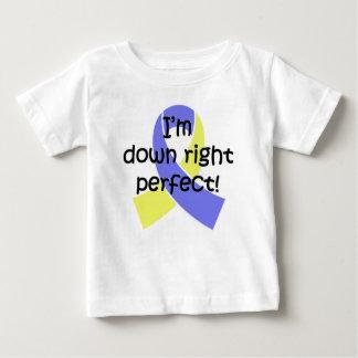 Camiseta Para Bebê Para baixo direito aperfeiçoe, consciência de