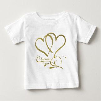 Camiseta Para Bebê Para sempre cores editáveis do fundo do ouro dos