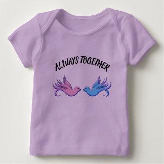 Camiseta Para Bebê Para sempre junto
