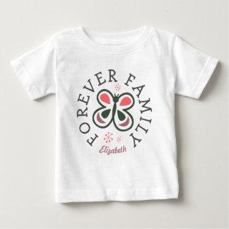 Camiseta Para Bebê Para sempre presente cor-de-rosa da adopção da