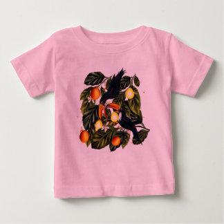 Camiseta Para Bebê Paraíso tropical. Toucans e citrino