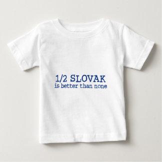 Camiseta Para Bebê Parcialmente eslovaco