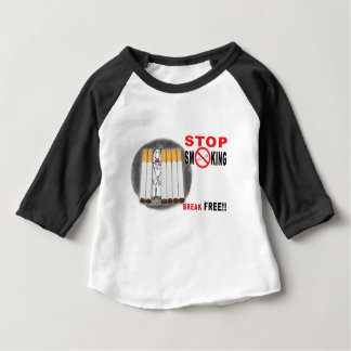 Camiseta Para Bebê Pare de fumar lembretes - não mais bumbuns