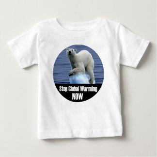 Camiseta Para Bebê Pare o aquecimento global agora