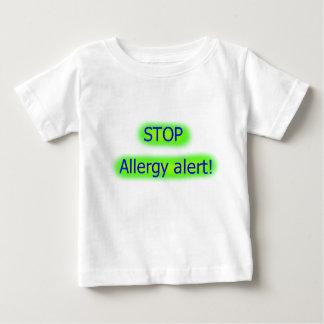 Camiseta Para Bebê Pare o tshirt alerta dos childs da alergia
