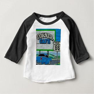 Camiseta Para Bebê Parede de canto do café da rota 66