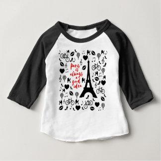 Camiseta Para Bebê Paris