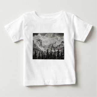 Camiseta Para Bebê Parque de Yosemite no inverno