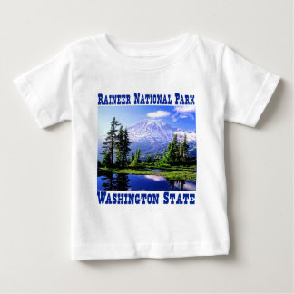 Camiseta Para Bebê Parque nacional de Raineer - estado de Washington