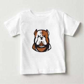 Camiseta Para Bebê Parte dianteira americana da cabeça do buldogue