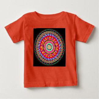 Camiseta Para Bebê Parte superior brilhante do Weave de cesta da