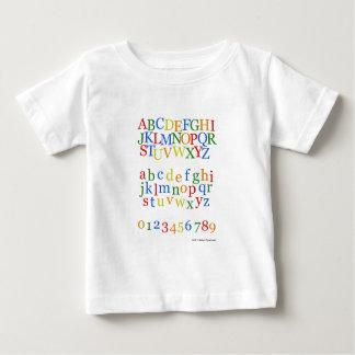 Camiseta Para Bebê Parte superior colorida do alfabeto das crianças +