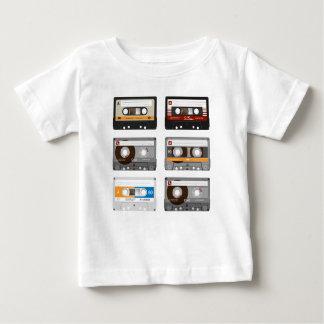 Camiseta Para Bebê Parte superior da cassete de banda magnética