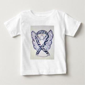 Camiseta Para Bebê Parte superior do bebê da arte do anjo da fita da