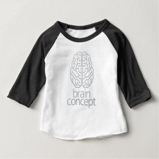 Camiseta Para Bebê Parte superior do conceito do cérebro