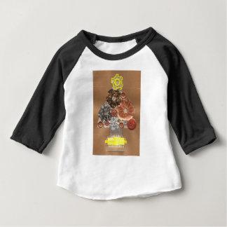 Camiseta Para Bebê Parte superior do Raglan do miúdo da árvore de