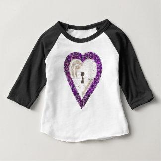 Camiseta Para Bebê Parte superior do Raglan do miúdo do coração do