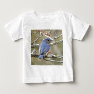 Camiseta Para Bebê Parte traseira do Bluebird