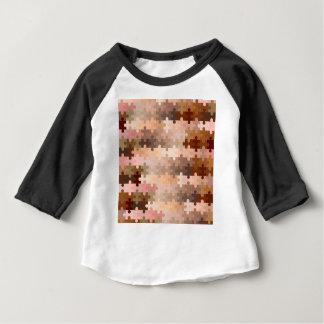 Camiseta Para Bebê Partes da serra de vaivém do tom de pele