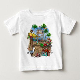 Camiseta Para Bebê Partido da praia dos papagaios