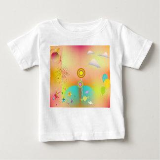 Camiseta Para Bebê partido e cores