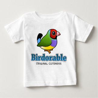 Camiseta Para Bebê Passarinho original de Gouldian do Cuteness