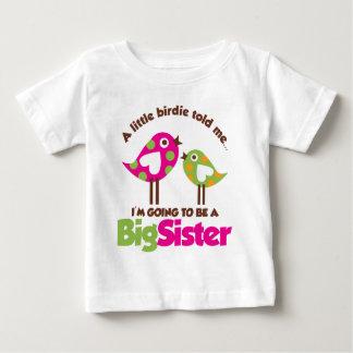 Camiseta Para Bebê Passarinho que vai ser uma irmã mais velha