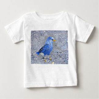 Camiseta Para Bebê Pássaro azul ambos os lados, Bugly a borboleta,