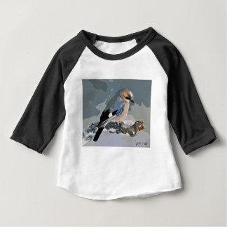 Camiseta Para Bebê Pássaro de Jay no inverno