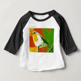 Camiseta Para Bebê Pássaro do pisco de peito vermelho