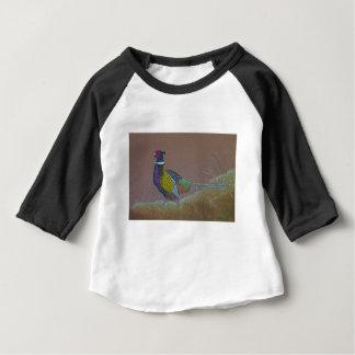 Camiseta Para Bebê Pássaro selvagem do faisão do pescoço do anel