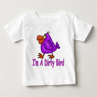Camiseta Para Bebê Pássaro sujo