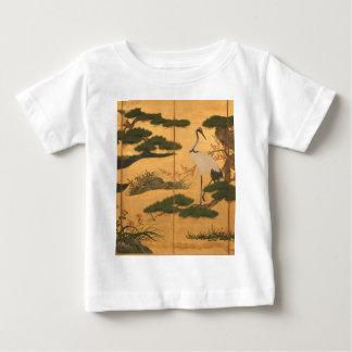 Camiseta Para Bebê Pássaros e flores das quatro estações