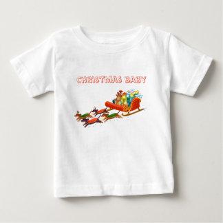 Camiseta Para Bebê passeio do trenó do dachshund