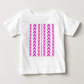 Camiseta Para Bebê Passo do pneu do rosa quente
