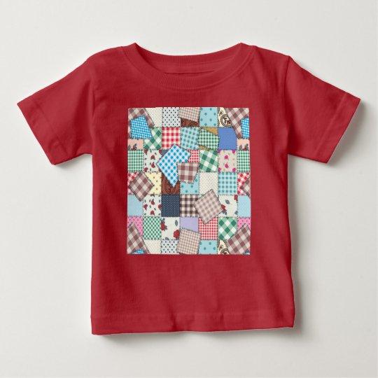 Camiseta Para Bebê Patchwork
