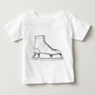 Camiseta Para Bebê Patinagem artística do patinagem no gelo