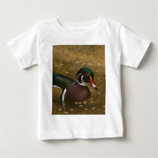 Camiseta Para Bebê Pato de madeira masculino