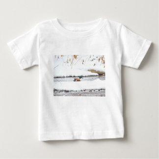 Camiseta Para Bebê Pato do inverno