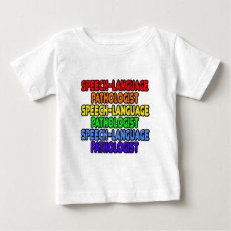 Camiseta Para Bebê Patologista da Discurso-Língua do arco-íris