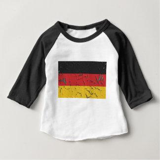 Camiseta Para Bebê Patriotismo do nacional da bandeira de Europa da