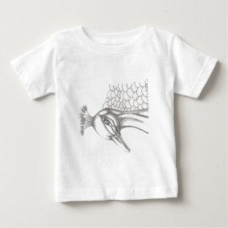 Camiseta Para Bebê Pavão bonito