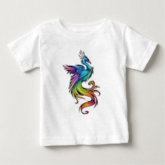 Camiseta Para Bebê Pavão colorido