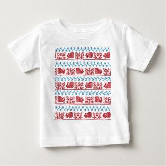 Camiseta Para Bebê Pavão e flores